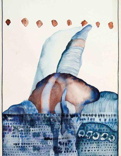 1978 Eugeniusz Józefowski, Pejzaże z miejsc zastępczych, akwarela, 35 x 50 cm 02