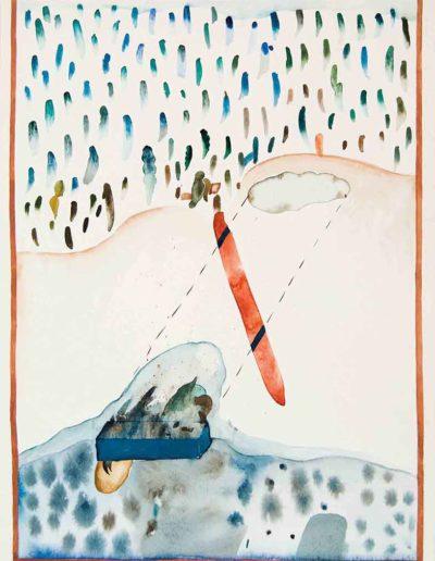 1978 Eugeniusz Józefowski, Pejzaże z miejsc zastępczych, akwarela, 35 x 50 cm 05