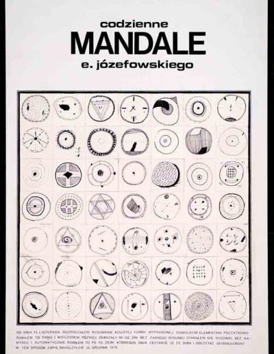 1979 Eugeniusz Józefowski, Codzienne mandale, rysunek tuszem na płycoe pilśniowej, 50 x 70 cm