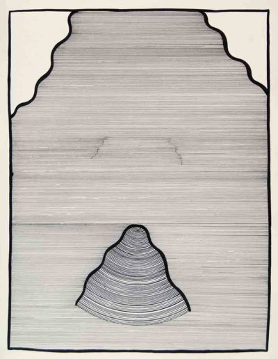 1979 Eugeniusz Józefowski, Falujący szept muszli, rysunek tuszem, 40 x 50 cm