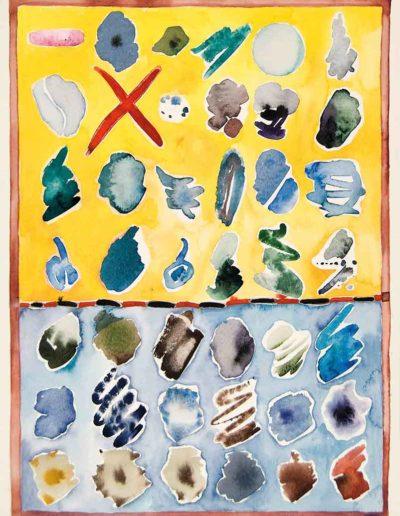 1979 Eugeniusz Józefowski, Pejzaże z miejsc zastępczych, akwarela, 35 x 50 cm 09