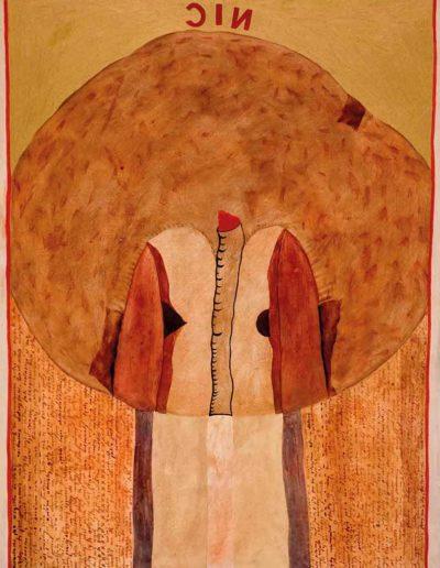 1979 Eugeniusz Józefowski, Według Świętego Jana od Krzyża, olej na płycie pilśniowej, format 50 cm x 66 cm