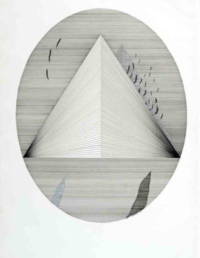 1979_80 Eugeniusz Józefowski, Owal kanciastego trójkąta, rysunek tuszem, cykl Sześć niekonsekwentnych obsesji, 50 x 70 cm 006