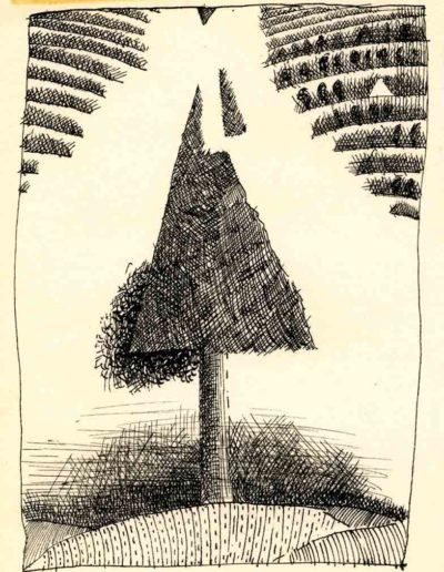 1979_82 Eugeniusz Józefowski, Szkicownik lubelski,rysuneki ołówkiem i tuszem kartkach z zeszytu, 14,5 cm x 21 cm, 01