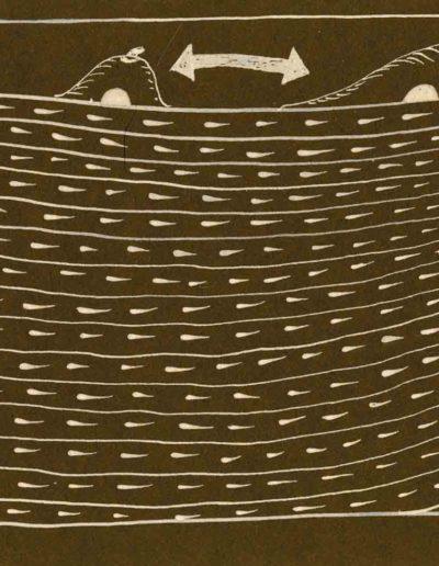 1979_82 Eugeniusz Józefowski, Szkicownik lubelski,rysuneki ołówkiem i tuszem kartkach z zeszytu, 14,5 cm x 21 cm, 03