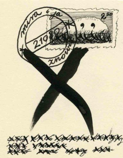 1979_82 Eugeniusz Józefowski, Szkicownik lubelski,rysuneki ołówkiem i tuszem kartkach z zeszytu, 14,5 cm x 21 cm, 06
