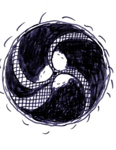 1979_82 Eugeniusz Józefowski, Szkicownik lubelski,rysuneki ołówkiem i tuszem kartkach z zeszytu, 14,5 cm x 21 cm, 16 (1)