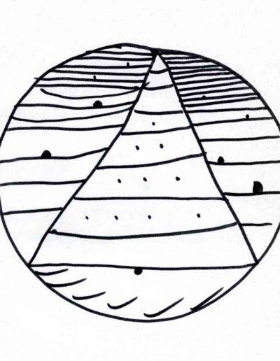 1979_82 Eugeniusz Józefowski, Szkicownik lubelski,rysuneki ołówkiem i tuszem kartkach z zeszytu, 14,5 cm x 21 cm, 22 (1)
