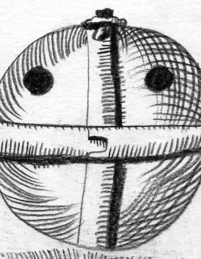 1979_82 Eugeniusz Józefowski, Szkicownik lubelski,rysuneki ołówkiem i tuszem kartkach z zeszytu, 14,5 cm x 21 cm, 53 (1)
