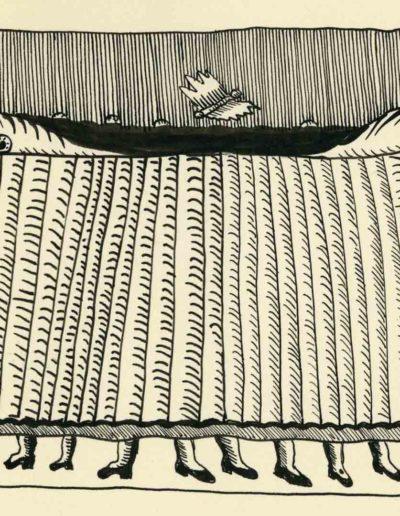 1979_82 Eugeniusz Józefowski, Szkicownik lubelski,rysuneki ołówkiem i tuszem kartkach z zeszytu, 14,5 cm x 21 cm, 54 (1)