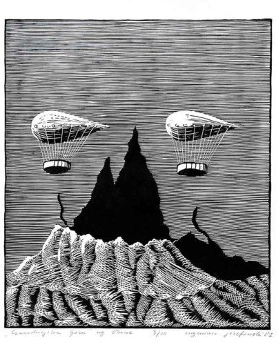 1981 Eugeniusz Józefowski, Czarodziejska Góra według Verne, 50 x 70 cm 29