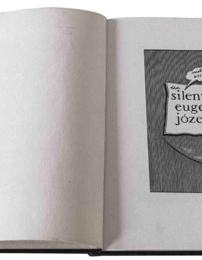 1983 Eugeniusz Józefowski, Milcząca książka, książka szyta po chińsku, linoryty odbite na bibule japońskiej, format 30,5 x 38,5 x 0,8 cm 01