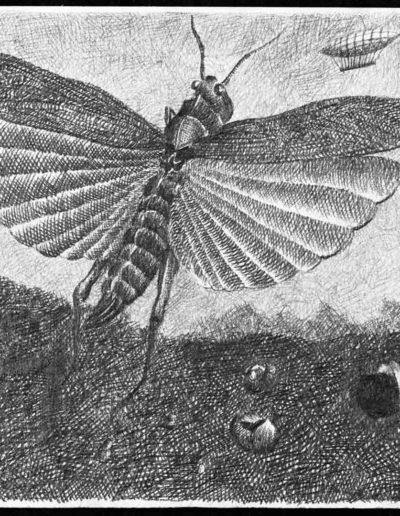 1983 Eugeniusz Józefowski, Nie odbieraj marzeń nawet szarańczy, rysunek ołówkiem na papierze akwarelowym, 24 x 18 cm 03