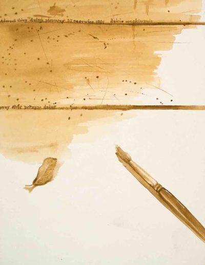 1985 Eugeniusz Józefowski, Adoracja Góry dzień pierwszy, akwarela na papierze 19 x 28,5 cm