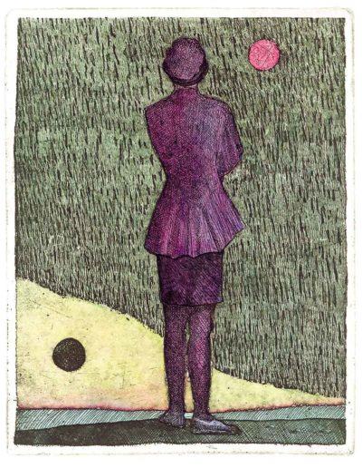 1987 Eugeniusz Józefowski, Ona i dwie kropki, 15 x 12 cm, intaglio