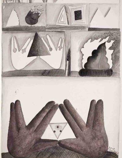 1987 Eugeniusz Józefowski, rysunek tuszem lawowanym na papierze akwarelowym, 23,5 x 34,5 cm 05