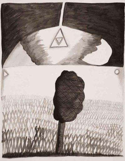 1987 Eugeniusz Józefowski, rysunek tuszem lawowanym na papierze akwarelowym, 23,5 x 34,5 cm 11