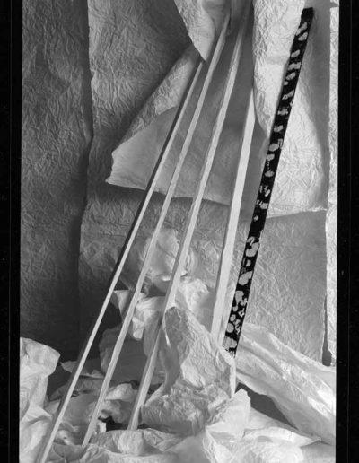 1988 Eugeniusz Józefowski, Aranżacje z listewkami, Instalacje osobiste, fotografia na negatywach 10 x 15 cm 13