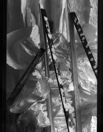 1988 Eugeniusz Józefowski, Aranżacje z listewkami, Instalacje osobiste, fotografia na negatywach 10 x 15 cm 14