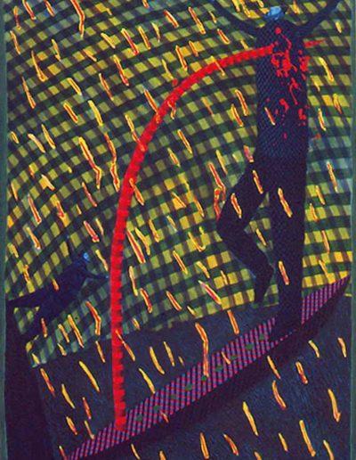 1988 Eugeniusz Józefowski, Ugodzony lecz pogodzony ,olej na płótnie, format 80 x 100 cm