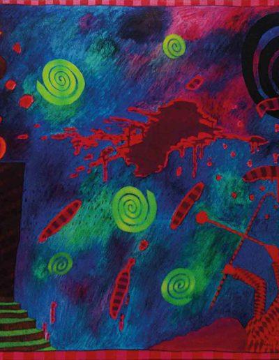 1989 Eugeniusz Józefowski, To bardzo wspaniale móc być..., olej na płótnie 90 x 70 cm