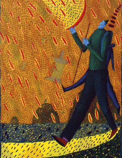 1989 Eugeniusz Józefowski, To wspaniale móc być, olej na płótnie, 70 x 90 cm