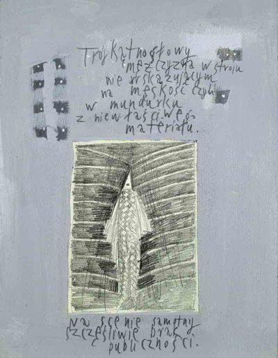 1989_1999 Eugeniusz Józefowski, Książki ze szkicowników - paryskiego i wiesbadeńskiegounikat jednoegzemplarzowy,kartki ze szkicownika naklejone na tekturę_11