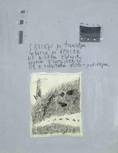 1989_1999 Eugeniusz Józefowski, Książki ze szkicowników - paryskiego i wiesbadeńskiegounikat jednoegzemplarzowy,kartki ze szkicownika naklejone na tekturę_13