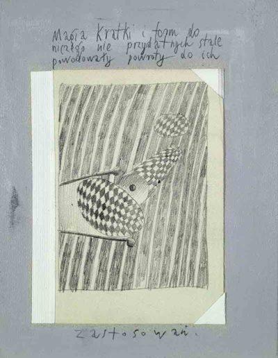 1989_1999 Eugeniusz Józefowski, Książki ze szkicowników - paryskiego i wiesbadeńskiegounikat jednoegzemplarzowy,kartki ze szkicownika naklejone na tekturę_17