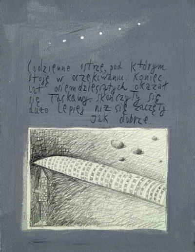 1989_1999 Eugeniusz Józefowski, Książki ze szkicowników - paryskiego i wiesbadeńskiegounikat jednoegzemplarzowy,kartki ze szkicownika naklejone na tekturę_21