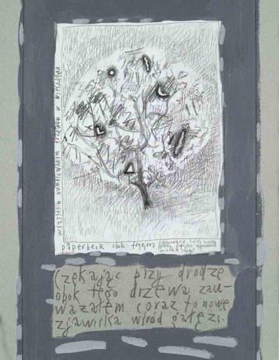 1989_1999 Eugeniusz Józefowski, Książki ze szkicowników - paryskiego i wiesbadeńskiegounikat jednoegzemplarzowy,kartki ze szkicownika naklejone na tekturę_26