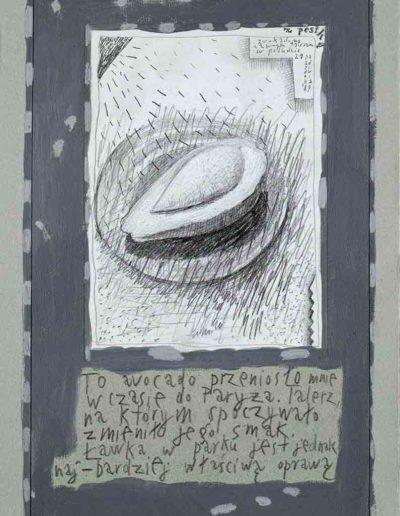 1989_1999 Eugeniusz Józefowski, Książki ze szkicowników - paryskiego i wiesbadeńskiegounikat jednoegzemplarzowy,kartki ze szkicownika naklejone na tekturę_28