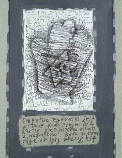 1989_1999 Eugeniusz Józefowski, Książki ze szkicowników - paryskiego i wiesbadeńskiegounikat jednoegzemplarzowy,kartki ze szkicownika naklejone na tekturę_30