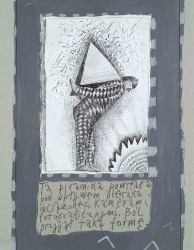 1989_1999 Eugeniusz Józefowski, Książki ze szkicowników - paryskiego i wiesbadeńskiegounikat jednoegzemplarzowy,kartki ze szkicownika naklejone na tekturę_32