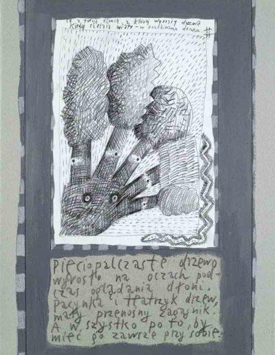 1989_1999 Eugeniusz Józefowski, Książki ze szkicowników - paryskiego i wiesbadeńskiegounikat jednoegzemplarzowy,kartki ze szkicownika naklejone na tekturę_33