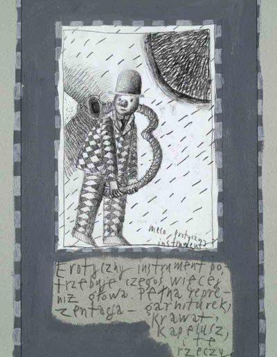 1989_1999 Eugeniusz Józefowski, Książki ze szkicowników - paryskiego i wiesbadeńskiegounikat jednoegzemplarzowy,kartki ze szkicownika naklejone na tekturę_36