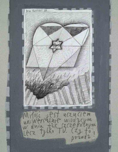 1989_1999 Eugeniusz Józefowski, Książki ze szkicowników - paryskiego i wiesbadeńskiegounikat jednoegzemplarzowy,kartki ze szkicownika naklejone na tekturę_39