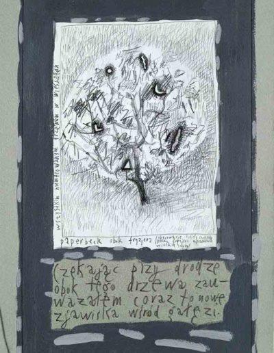 1989_1999 Eugeniusz Józefowski, Książki ze szkicowników - paryskiego i wiesbadeńskiegounikat jednoegzemplarzowy,kartki ze szkicownika naklejone na tekturę_44