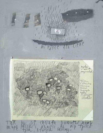 1989_1999 Eugeniusz Józefowski, Książki ze szkicowników - paryskiego i wiesbadeńskiegounikat jednoegzemplarzowy,kartki ze szkicownika naklejone na tekturę_7