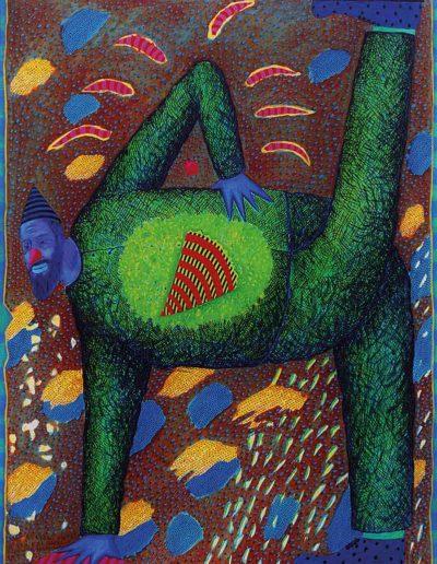 1991 Eugeniusz Józefowski, Najlepiej się czuję na obrazie, olej na płótnie, 60 x 81 cm