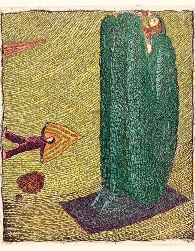 1992 Eugeniusz Józefowski, Dwóch poszukiwaczy, 11 x 9,2 cm intaglio