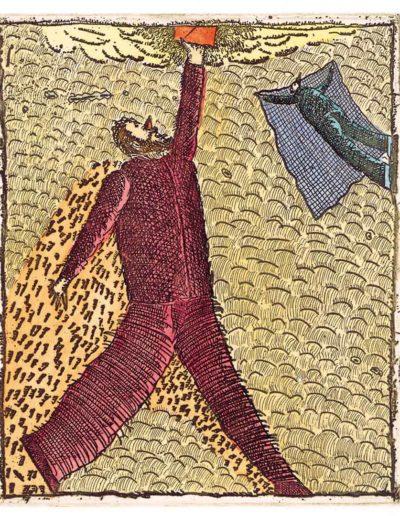 1992 Eugeniusz Józefowski, Sięganie po..., 11 x 9,2 cm intaglio