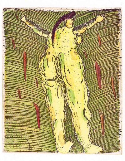 1993 Eugeniusz Józefowski, Dojrzała kobieta, 8 x 6,5 cm, intaglio