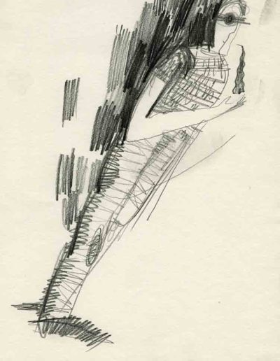 1993 Eugeniusz Józefowski, Pochylający sie aby nie upaść, rysunek ołówkiem