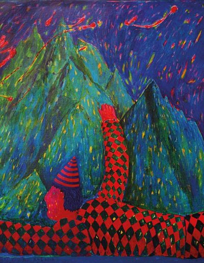 1994 Eugeniusz Józefowski, Góra przed, którą padam na kolana, olej na płótnie, 90 x 70 cm