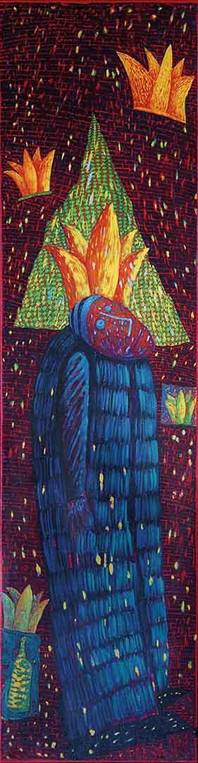 1994 Eugeniusz Józefowski, Lekki fiś, olej na płótnie, 35 x 135 cm