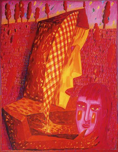 1994 Eugeniusz Józefowski, Opiekun płaczaczki, akryl na płótnie, 53 x 70 cm