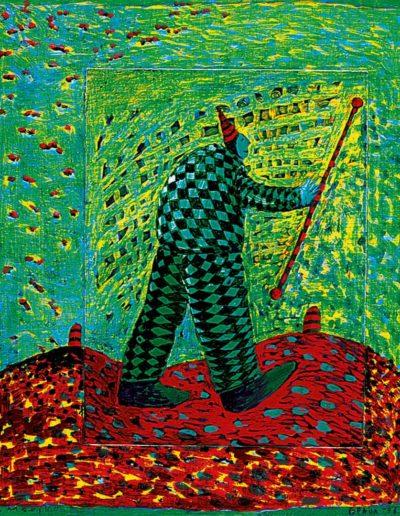 1996 Eugeniusz Józefowski, Magik, olej na płótnie