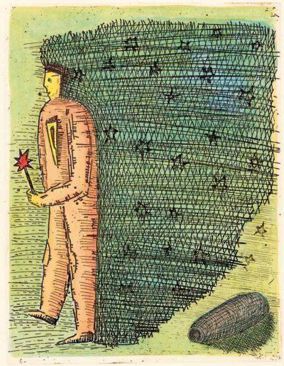 1997 Eugeniusz Józefowski, Idąc z gwiazdą, 12,2 x 9,5 cm, intaglio