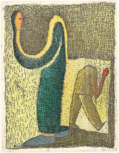 1997 Eugeniusz Józefowski, Rozmowa niemożliwa, 12,2 x 9,5 cm, intaglio